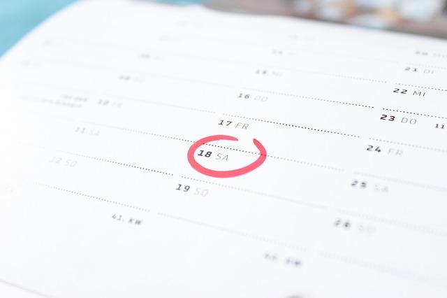 カレンダー計画