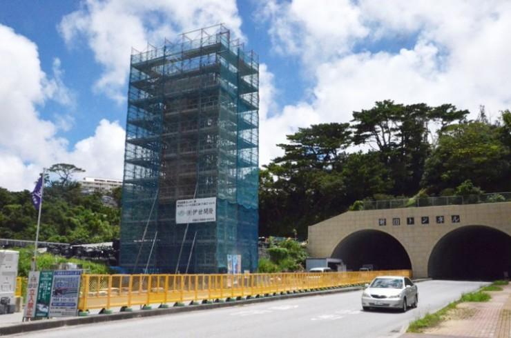 前田トンネル付近