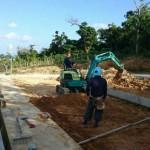 みくにの田場の園(うるま市)基礎工事開始