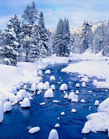 Winter at Lake Tahoe, California