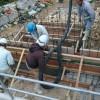 コンクリート基礎工事風景・宜野湾市嘉数