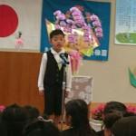可愛い孫の稚園修了式