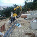 みくにの嘉数の丘・基礎工事開始