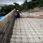 みくにの嘉数の丘・コンクリート工事の段取り風景