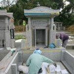 照屋家様のお墓の建立風景