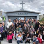 十字架委福音教会納骨堂完成のセレモニー風景(読谷村)