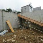 嘉数の丘の階段、型枠工事の様子について