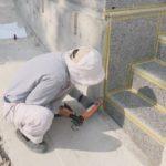 伊波家様のお墓完成にむけて最終の工程作業