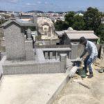 山根さんご家族のお墓の工事風景