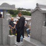 小谷家様の開眼法要セレモニー(お墓のお祝い)の風景