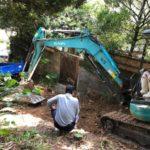墓じまい後の墓石解体工事風景
