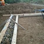 掘(ブロック)の土台打ち工事⤴