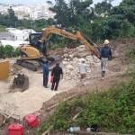 宜野湾 嘉数の丘の工事開始です