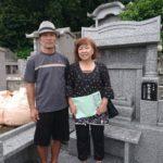 松長家様のお墓の引き渡しの風景