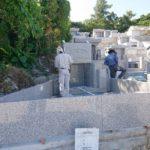 伊波家様のお墓の建立風景②