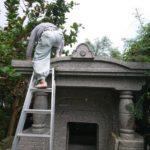小牧家様お墓の解体の風景
