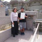 友寄家様お墓無事に引き渡し終了しました。