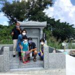 太田家様のお墓完成の引き渡し風景・