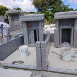 上原家様のお墓の建立風景②