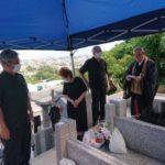 川満家様のお墓の納骨式・開眼法要セレモニー風景