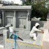 与儀家様のお墓がもうすぐ完成です。!