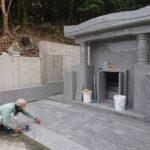 新垣家様のお墓の建立風景PART③