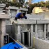 松川家様のお墓の建立・もうすぐ完成です。