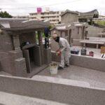 宇良家様のお墓のもうすぐ完成です!