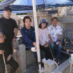 松川様のお墓の完成祝い+納骨式の風景!