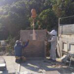 仲田家様のお墓の建立風景のひとコマ