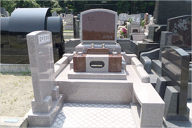 洋型墓石 お墓の種類 墓石・記念碑・建築石材から石の置物まで 宮城県塩釜市の志賀石材店